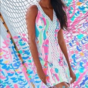 Lilly Pulitzer Lynn shift dress out to sea sz 16
